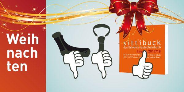 sittibuck, das Erlebnis-Gutscheinbuch als Geschenk zu Weihnachten